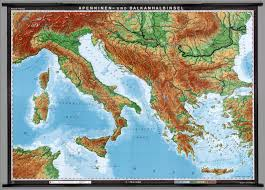 Italy Mountains Map by Campaign Map Graphics Specially Mountains