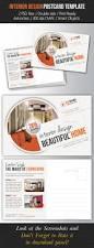 interior design postcard template postcard template print