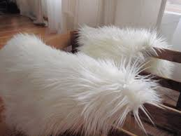 Fur Area Rug Sheepskin Pelt Rug Braided Rugs White Shag Area Faux Fur