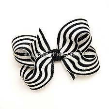 black and white striped ribbon black and white striped hair bow 3 inch boutique bow chic