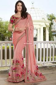 color designer attractive pink color designer party wear saree