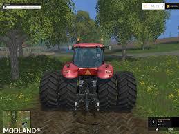 case ih magnum 380 dynamic twin wheels v1 1 mod for farming