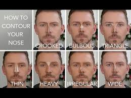 best hair for wide nose how to contour the 7 nose shapes youtube