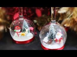 wine glass snow globes how to make wine glass snow globe candle holder the whoot