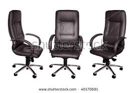 Black Leather Armchairs Black Leather Office Chair Vector Stock Vector 386268781