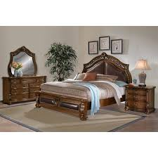 monticello bedroom set morocco 6 piece queen upholstered bedroom set pecan value city