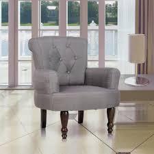 Esszimmerstuhl Im Cocktailsessel Design Vidaxl Französischer Stuhl Mit Armlehne Grau 1 S Real