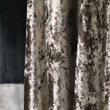 Crushed Velvet Fabric For Curtains Silver Grey Velvet Curtain Fabric By Fibre Naturelle Panther