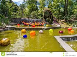 Botanical Gardens In Atlanta Ga by Exhibition Of Glass Artist Chihuly In Atlanta Botanical Garden