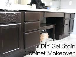 Diy Gel Stain Kitchen Cabinets Gel Paint Kitchen Cabinets Honey Oak Cabinets Re Stained With Java