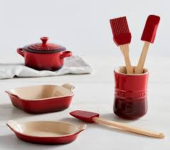 Le Creuset Disney Red Le Creuset Toy Bakeware And Utensil Set Pottery Barn Kids