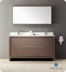Double Bathroom Vanity 60 Fresca Fvn8119go Allier 60