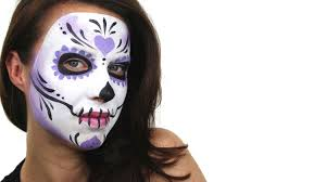 halloween face decals beginners sugar skull face painting tutorial snazaroo youtube