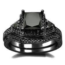 black wedding ring set 25 black diamond engagement rings for your side unique
