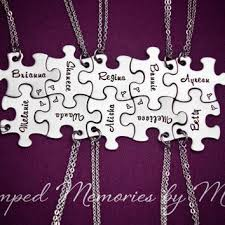 stainless steel puzzle necklace images Family name necklaces hand stamped from stamped memories by mel jpg