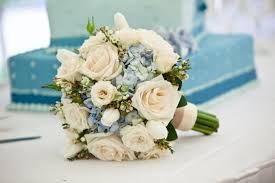 hydrangea wedding bouquet blue and white wedding bouquets bb0563 vintage ivory and
