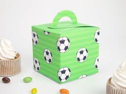 soccer party supplies soccer theme favor box cupcake box candy box 10pcs lot soccer
