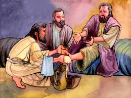 coloring pages of jesus washing his disciples feet virtren com