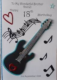 handmade birthday card husband dad brother son teenager 16th 21st