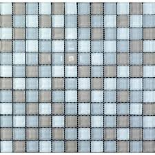 glass tile sheets square kitchen backsplash tile wall fireplace