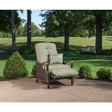 Hanover Patio Furniture Hanover Ventura Vintage Meadow Cushion Luxury Recliner Patio Chair