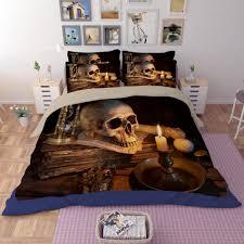 happy halloween skull 3d print bedding sets