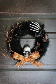 Black Halloween Wreath Decorating Ideas Charming Picture Of Halloween Accessories For