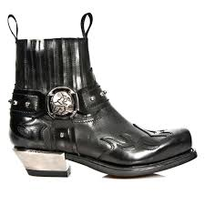 black motorcycle boots new rock style m 7966 s1 buckle u0026 flames ankle black biker boots