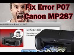 canon pixma mp287 resetter not responding fix error p07 canon mp287 reset youtube