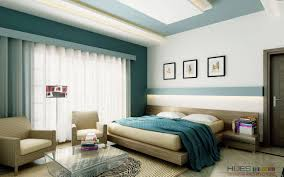 foxy image of blue and cream bedroom decoration using light blue