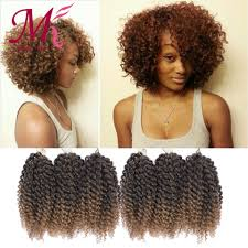 bohemian human braiding hair 8inch afro kinky curly hair crochet braids extensions 3pcs lot