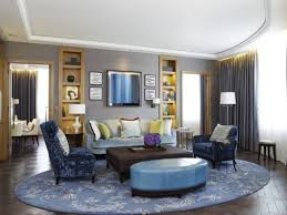 Living Rooms With Area Rugs by Enhance Your Room With Round Area Rugs