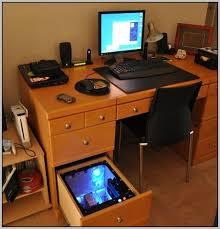 L Shaped Desk Gaming Innovative Gaming Computer Desk Setup Home Design Ideas Inside Pc