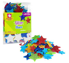 amazon com creative hands glitter foam stickers stars