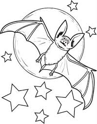 free printable ghost bat coloring kids