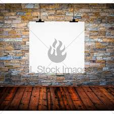 Paper Hanging L Interior Of Empty Room With White Paper Hanging On Wall Gl Stock