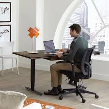 Standing Sitting Desk Sequel Lift Standing Desk 66 X30 6052 Bdi