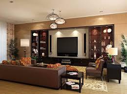 Cool Modern Showcase Design For Elegant Black Living Room With - Showcase designs for living room