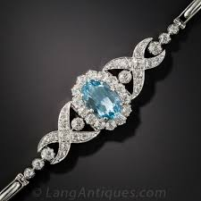 diamond bracelet jewelry images Edwardian aquamarine and diamond bracelet jpg