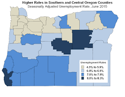 Oregon Map Of Counties by Oregon Workforce And Economic Information June 2015 Employment