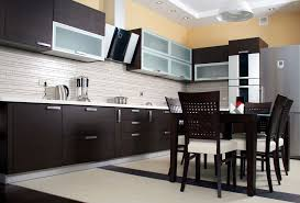 contemporary glass front kitchen cabinet glass front kitchen