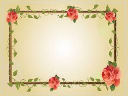 red rose flower frame ppt backgrounds border u0026 frames flowers