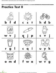 preschool literacy worksheets beginning letter sounds worksheets kindergarten phonics and phonics