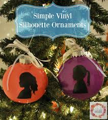 a glimpse inside simple vinyl silhouette ornament
