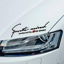 audi decals 1pc spors mind rs sport car sticker high performance auto