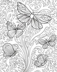 detailed butterfly coloring pages for adults adult coloring pages butterflies