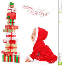christmas baby with gifts stock photo image of happy 16181988