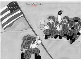 Flag Iwo Jima Raising The Flag On Iwo Jima By Mrblinblingboss On Deviantart