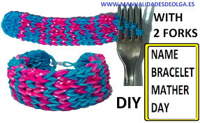 make bracelet with name images How to make name bracelet without rainbow loom with mama letters jpg