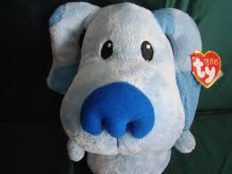 ty beanie pluffies blues clues sitting dog 7 inch plush blue puppy